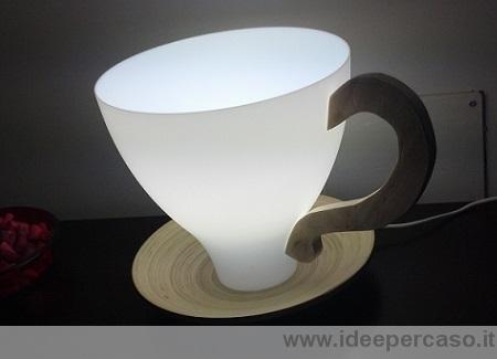 Come fare una lampada a forma di tazza con un paralume di plastica