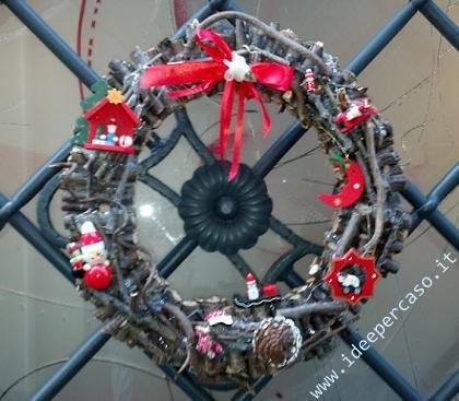 Ghirlanda natalizia fai da te tutorial - Ghirlanda natalizia per porta fai da te ...